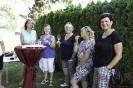 Sandra, Maggy, Ingrid, Jolanda und Beate am Prosten