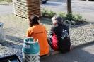 Sandra und Ingrid bei einer Pause