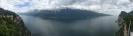 Panoramablick von der Schauderterrasse auf den Gardasee