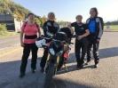 Gabi, Lilian, Jolanda und Sandra vor der Abfahrt