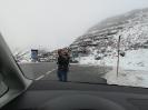 Bei der Rückfahrt über den Brenner Schnee-Fotostop am Arlberg