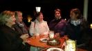 Jolanda, Ingrid, Gabi, Sandra und Gabriela unter der Heizkanone